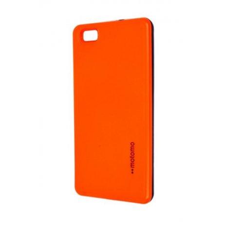 Púzdro Motomo Huawei P8 Lite reflexné oranžové