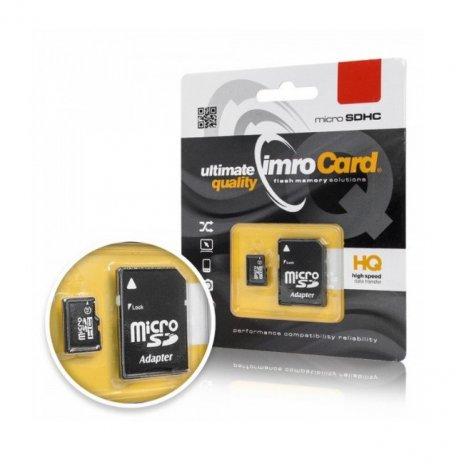 Paměťová karta Micro SDHC Imro 32 GB C10 + adaptér