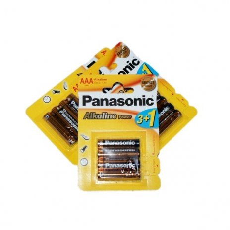 Panasonic Alkaline Power AAA elem 4db