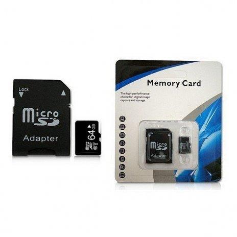Memóriakártya Micro SDHC 64 GB C10 + adapter