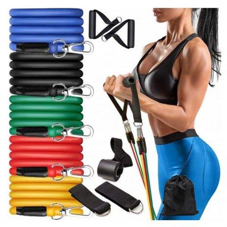 Ellenállásos gumiszalag edzésre - expandér 5 db