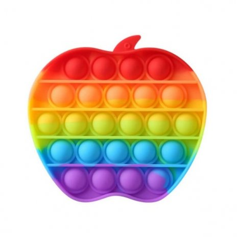 Pop It Rainbow antistresová hračka Jablko