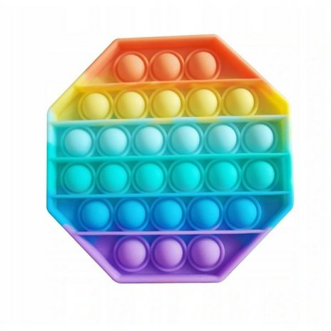 Pop It Rainbow antistresová hračka Osmiúhelník
