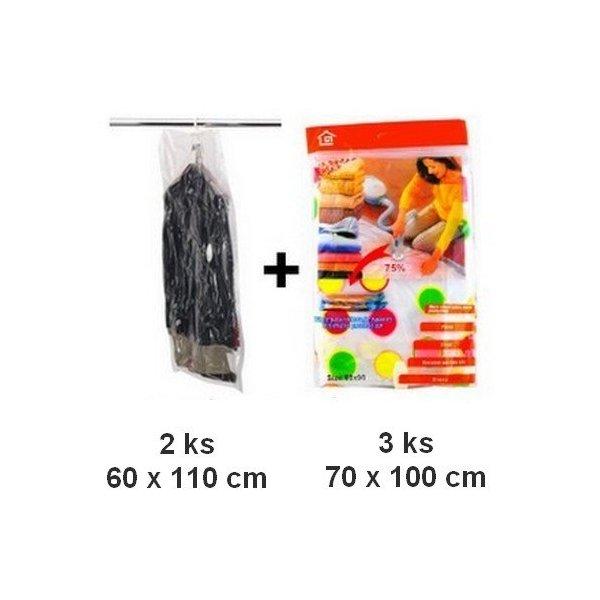 Vákuové vrecia 3 ks 70x100cm + 2 ks závesné 60x110 cm