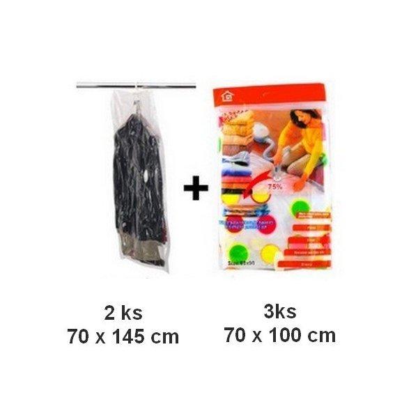 Vákuové vrecia 3 ks 70x100cm + 2 ks závesné 70x145 cm