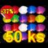 Lampiony štěstí Mix barev 50 ks