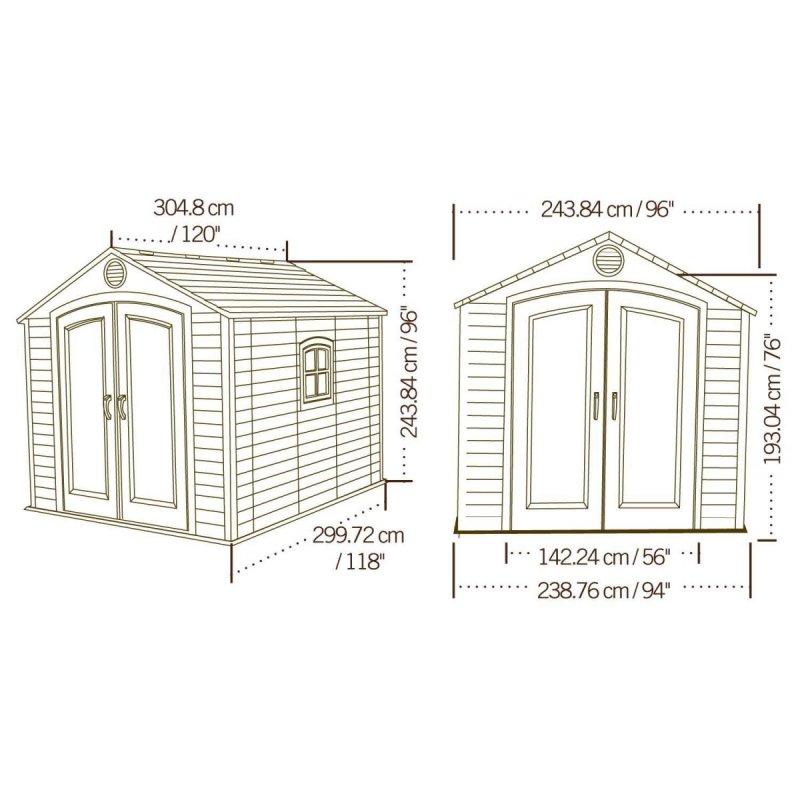 záhradny domček LIFETIME 6405 CLASSIC LINE