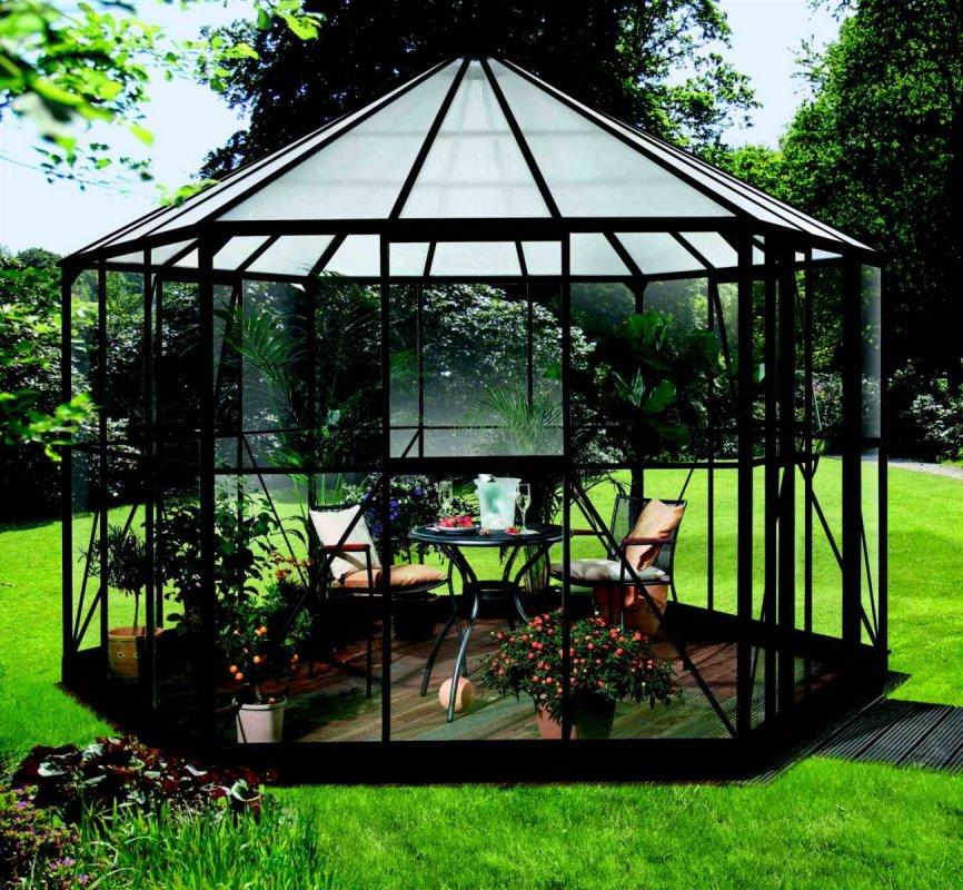Záhradný pavilón HERA 9000 čierny