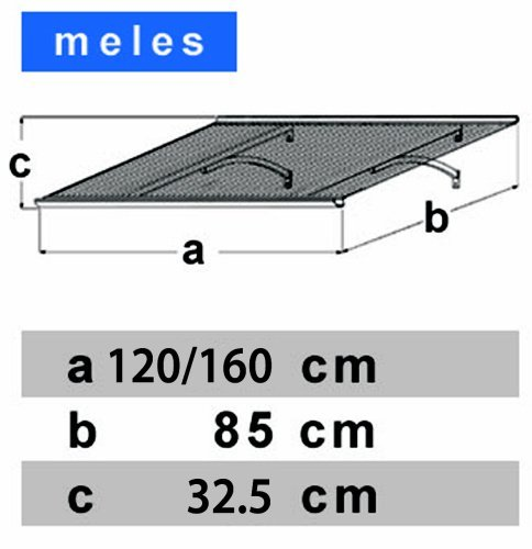 vchodová strieška LANITPLAST MELES 120/85 biela