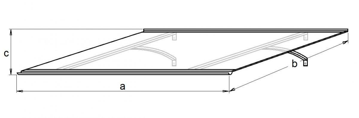 vchodová strieška LANITPLAST OTIS 120/85 biela