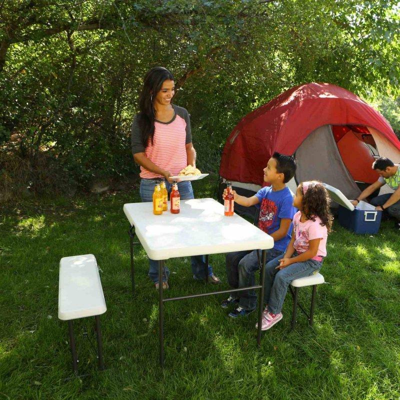 LIFETIME - campingový stôl a 2x lavica 80353 / 80352