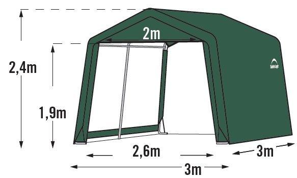 plachtový prístrešok SHELTERLOGIC 3,0 x 3,0 m - 70335EU