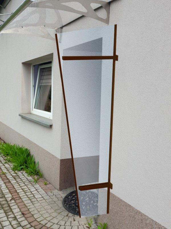 univerzálna bočná stena LANITPLAST UNI hnedá / PLEXI
