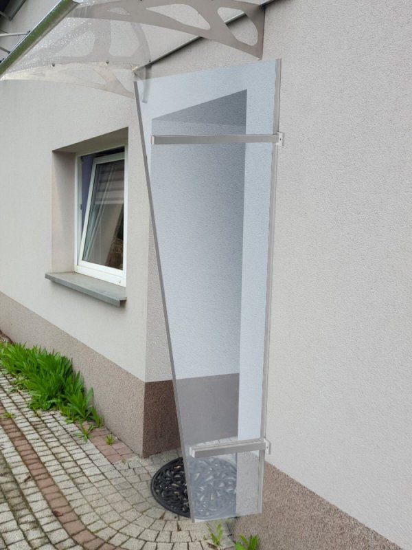 univerzálna bočná stena LANITPLAST UNI strieborna / PLEXI