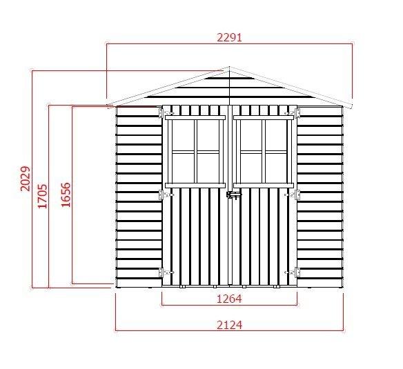 záhradný domček LANITPLAST EVA 229 x 194 cm