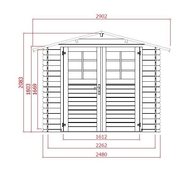 záhradný domček LANITPLAST PAVEL 290 x 250 cm