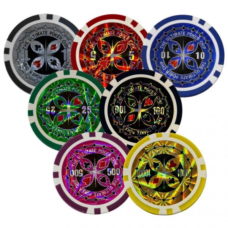 Poker Set - 500 laserových žetónov Ultimate