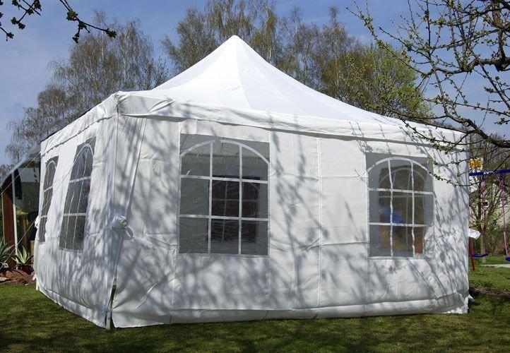 Záhradný stan - biely, 4 x 4 m
