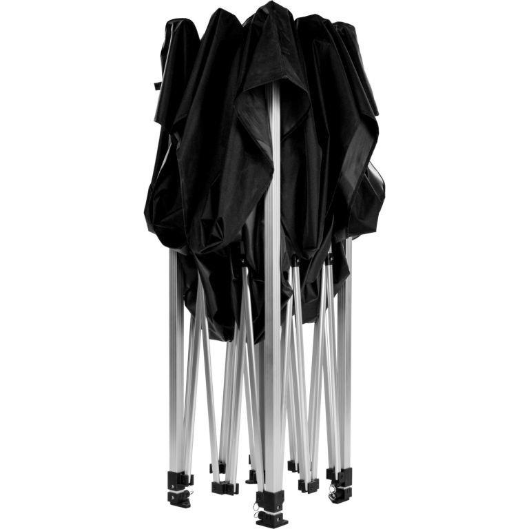 Záhradný párty stan nožnicový INSTENT 3 x 3 m - čierna