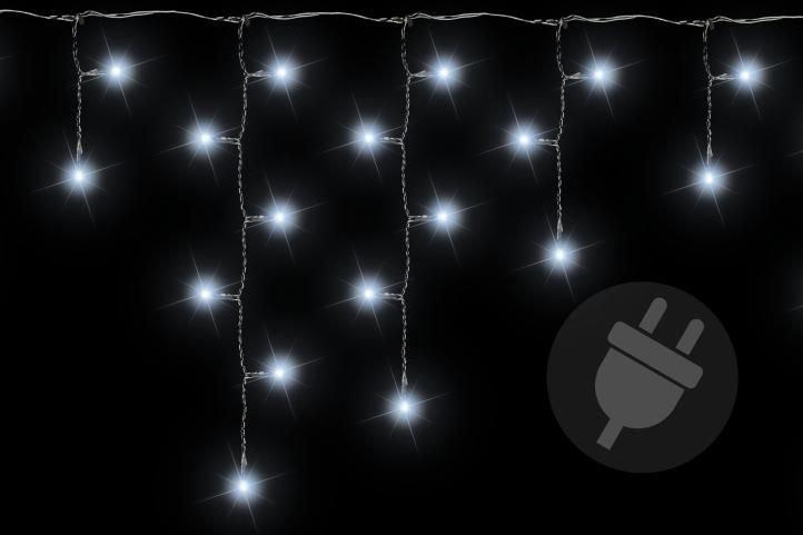 Vianočný svetelný dážď 600 LED studená biela - 11,9 m