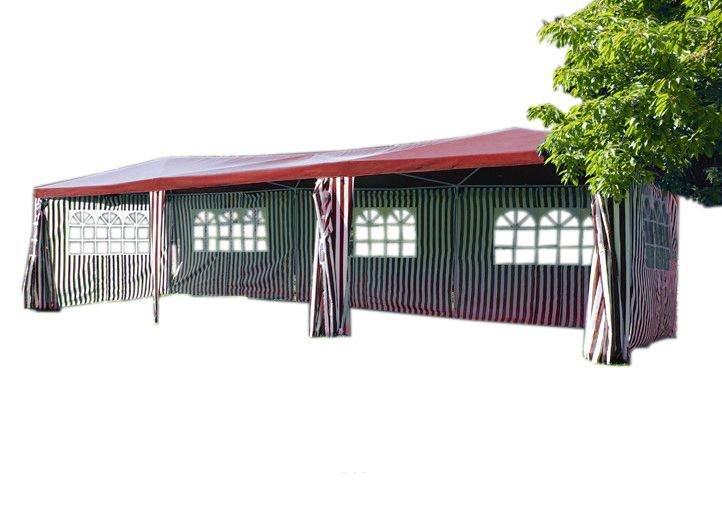 Záhradný stan - červený, 3 x 9 m