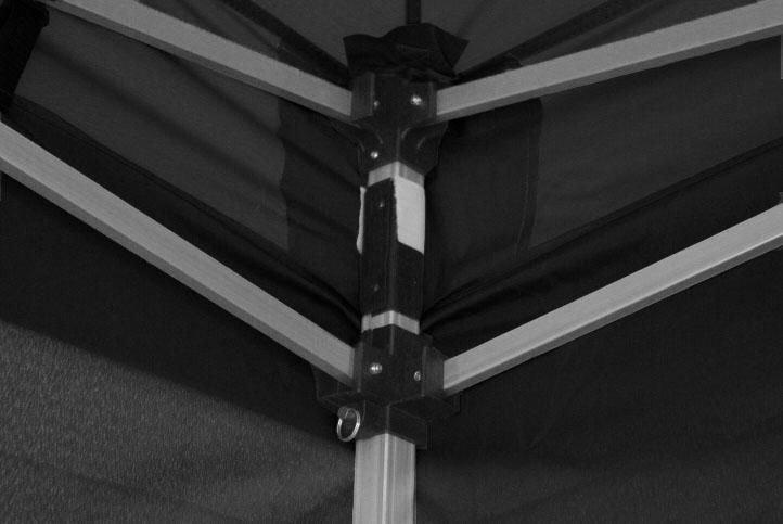 Záhradný párty stan 3x6 čierny, nožnicový