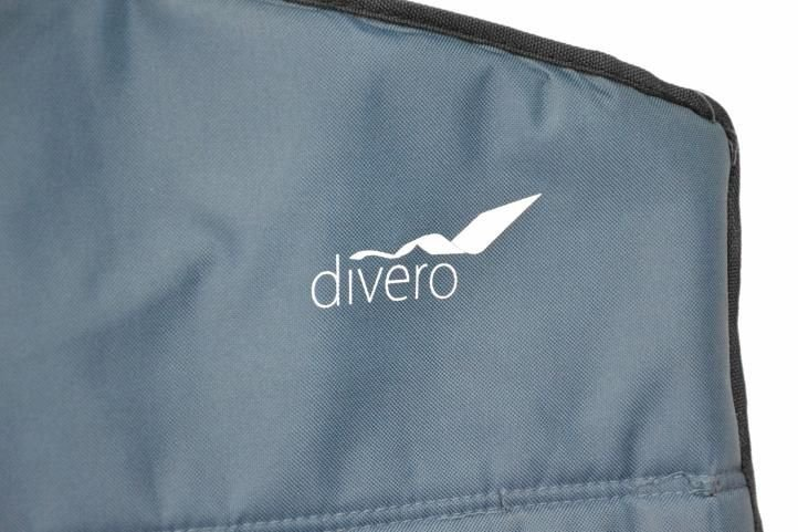 Skladacia kempingová stolička DIVERO XL – modrá