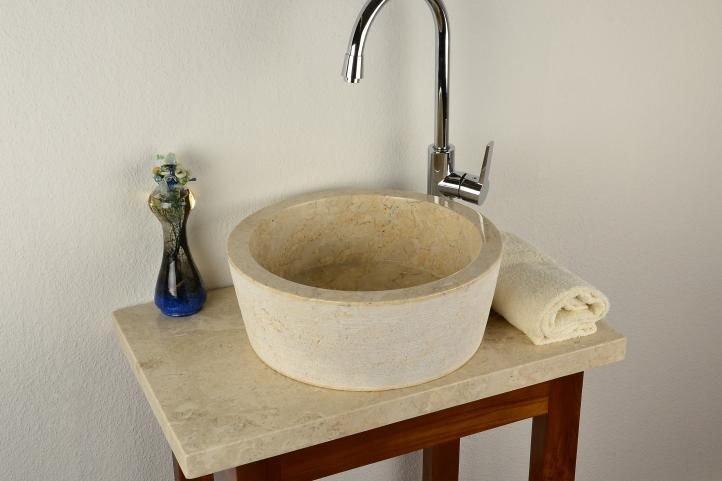 DIVERO umývadlo z prírodného kameňa Venedig