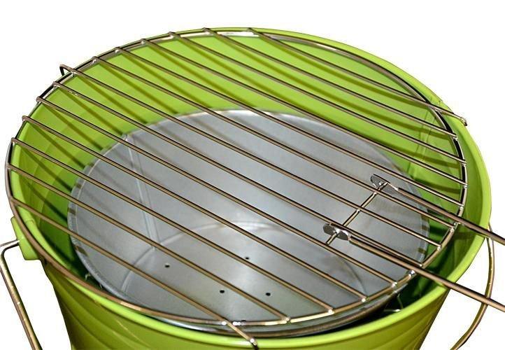Mini BBQ gril vedro zelený