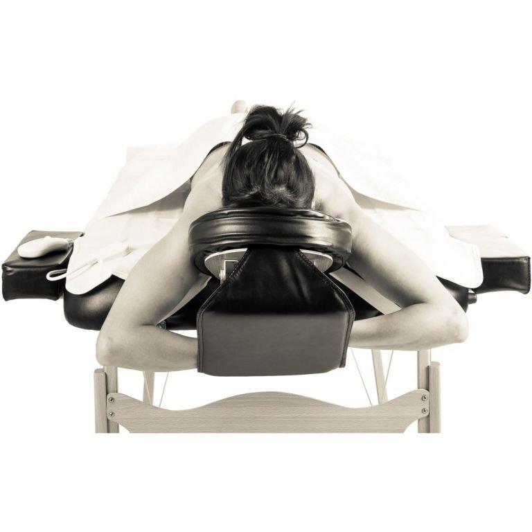 Prenosné masážne ležadlo čierne MOVIT