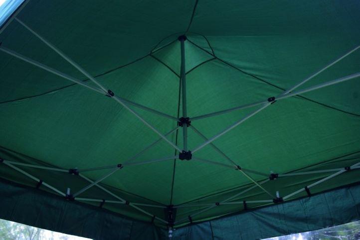 Záhradný párty stan nožnicový PROFI 3x3 m zelený + 2 bočné steny
