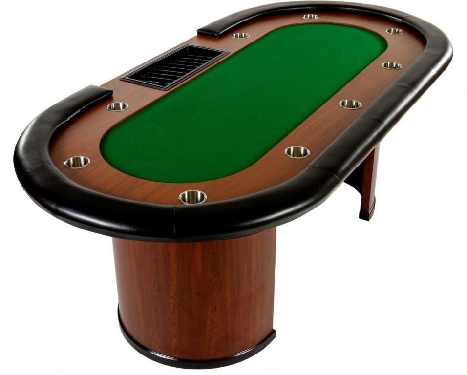 XXL pokerový stůl Royal Flush, 213 x 106 x 75cm, zelená