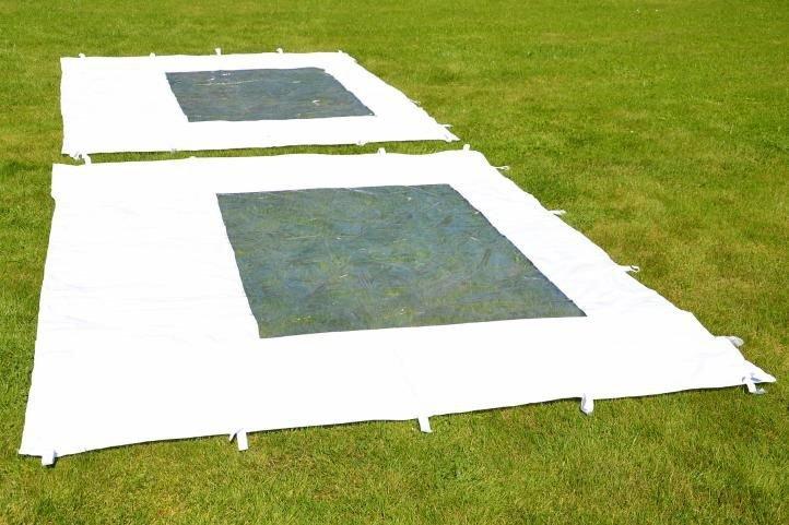Záhradný párty stan nožnicový PROFI 3 x 3 m biely + 2 bočné steny