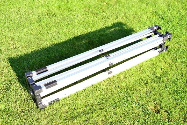 Záhradný párty stan nožnicový PROFI 3x3 m béžový + 4 bočné steny