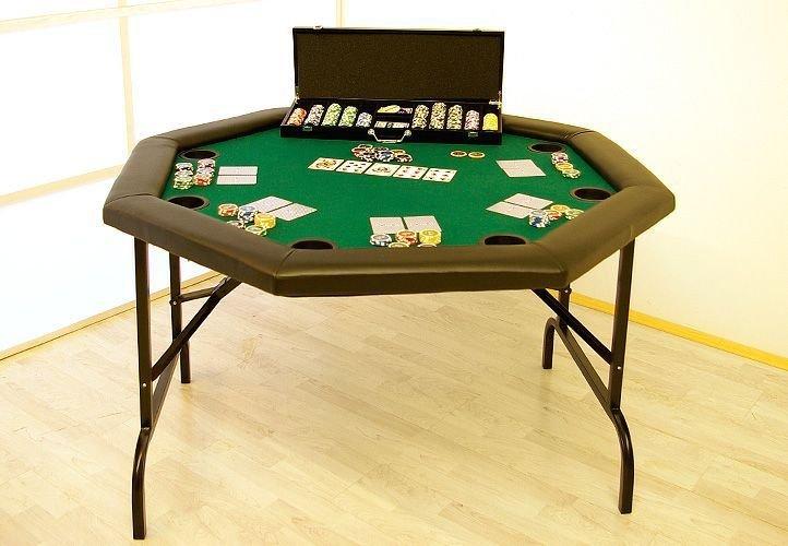 Poker stôl skladací – osemhran