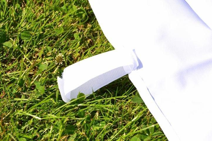 Záhradný párty stan nožnicový 3 x 3 m, biely Garth + 4 bočné steny