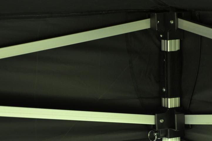 Záhradný párty stan nožnicový PROFI 3x3 m, čierny + 4 bočnice