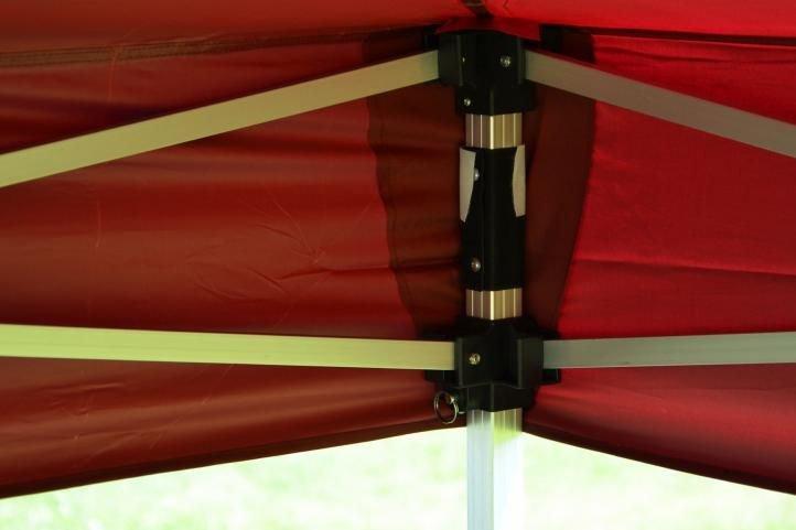 Záhradný párty stan nožnicový PROFI 3x3 m vínový + 2 bočné steny