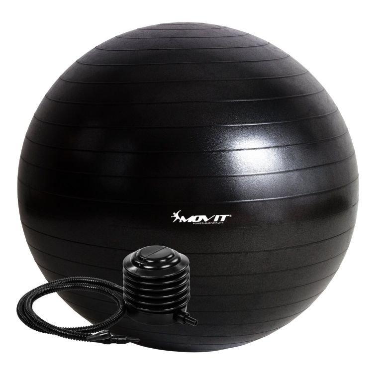 Gymnastická lopta MOVIT s pumpou - 85 cm – čierna