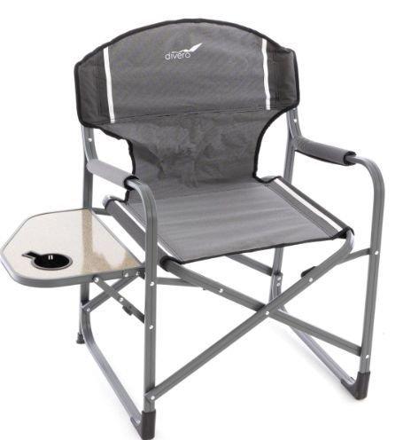 Rozkladacia stolička so stolíkom a držiakom nápojov