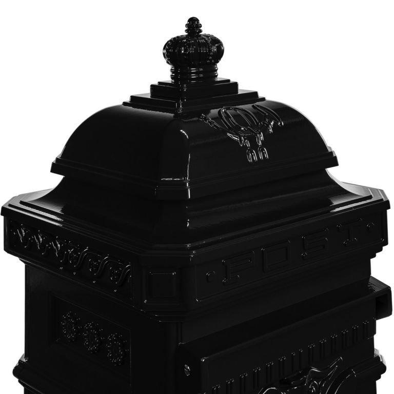 Poštová schránka starožitná antická - antracit