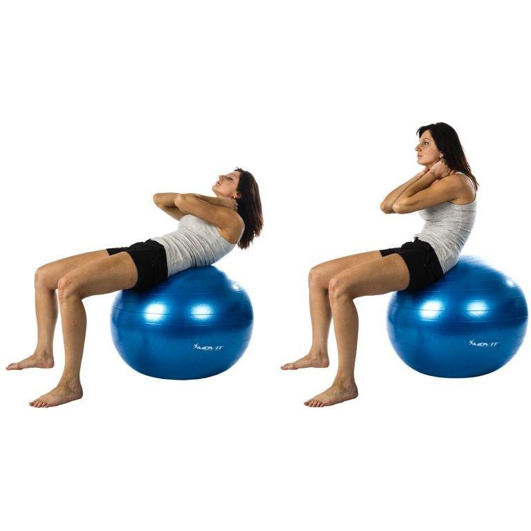 Gymnastická lopta MOVIT s pumpou - 85 cm - ružová