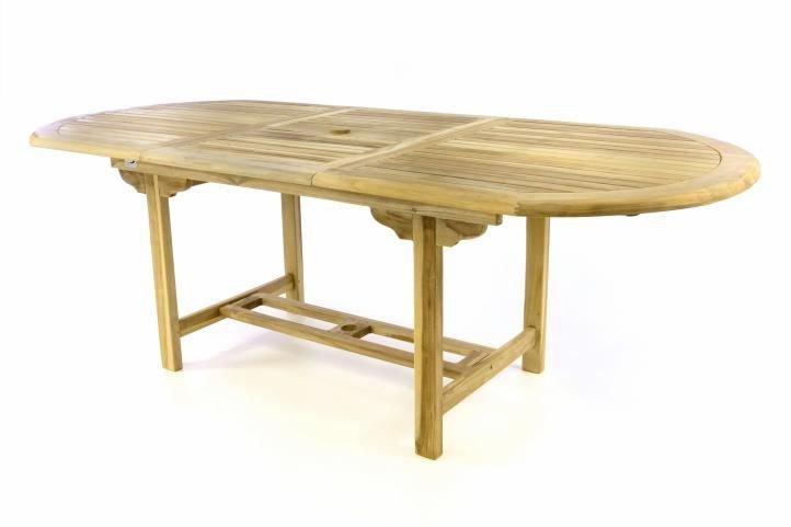 Záhradný oválny stôl DIVERO - rozťahovateľný - 170/230 cm