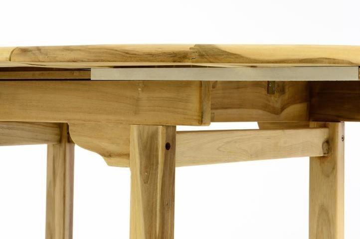 Záhradný jedálenský stôl z teakového dreva DIVERO - 120/170 cm