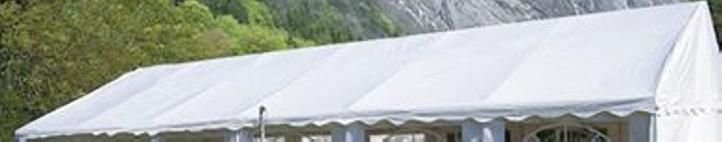Náhradná strecha k párty stanu 4 x 6 m, biela