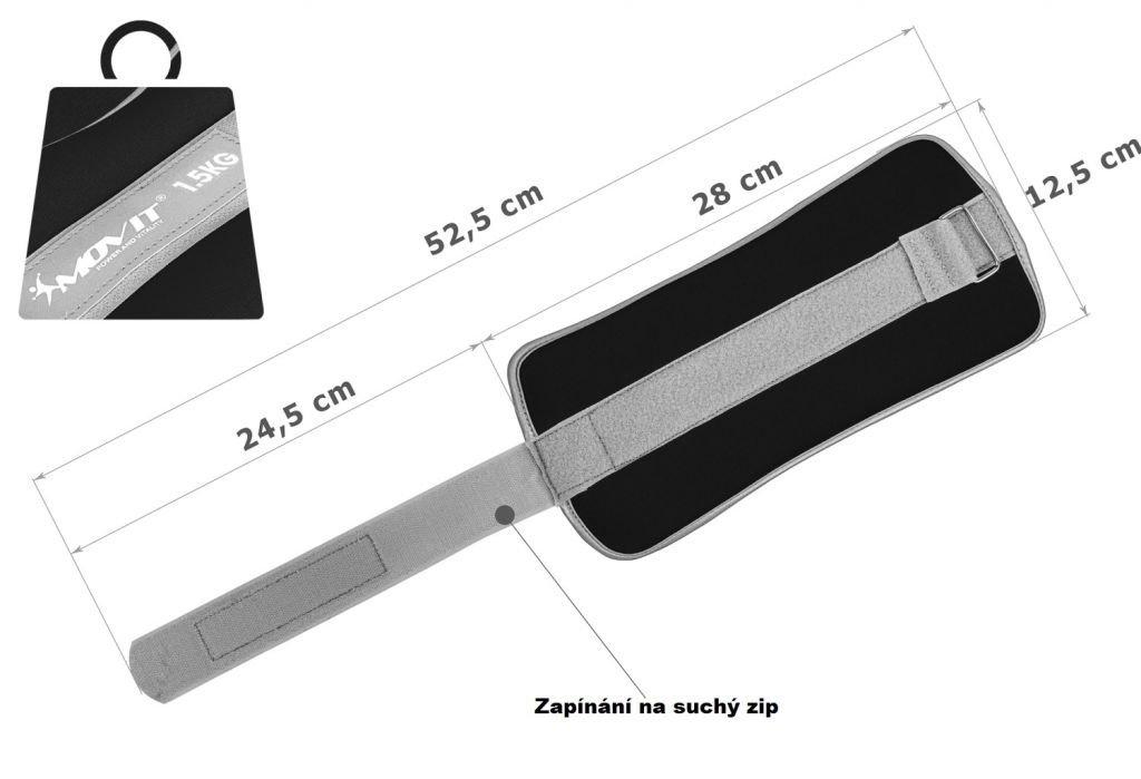Neoprénové záťažové reflexné manžety 2 x 1,5 kg
