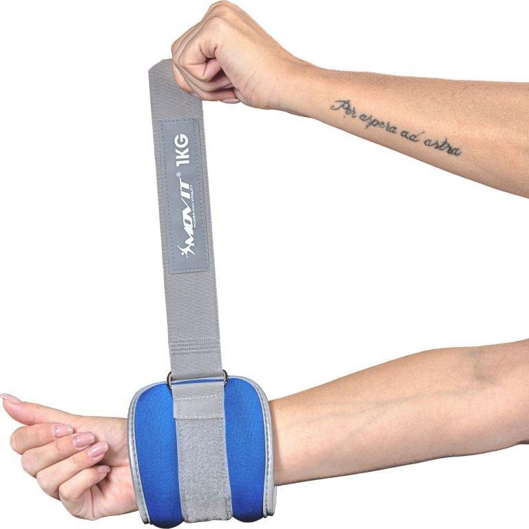 Neoprénové záťažové reflexné manžety 2 x 3 kg