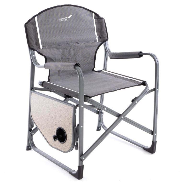 Kempingová stolička so stolíkom a držiakom - 2 kusy