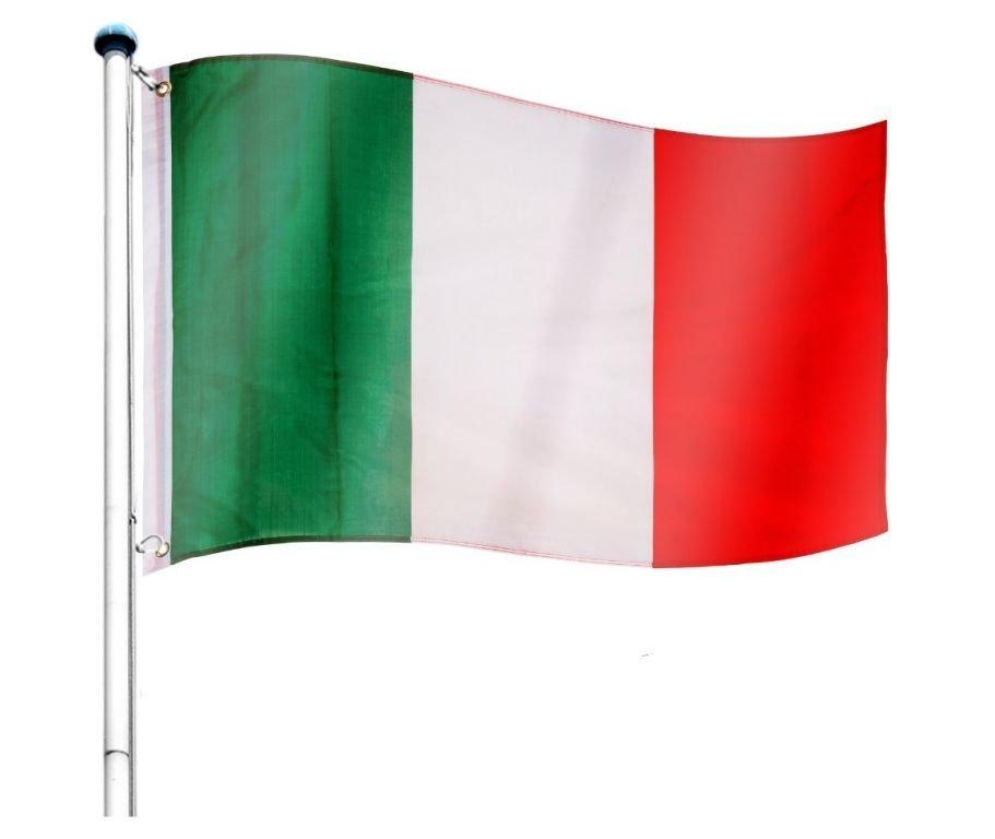 Vlajkový stožár vč. vlajky Itálie - 650 cm