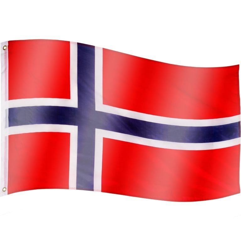 Vlajka Norsko - 120 cm x 80 cm
